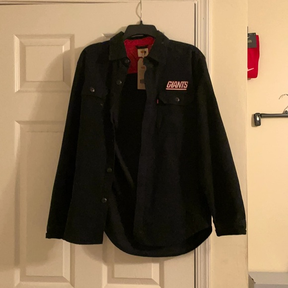 """Exclusive Levi's """"NY Giants"""" button up shirt."""